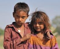 Hermano y hermana. La India Foto de archivo libre de regalías
