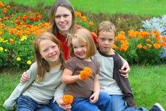 Hermano y hermanas Foto de archivo libre de regalías
