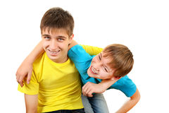 Hermanos alegres Imagenes de archivo