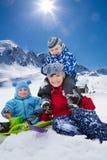 Hermanos del árbol el día de invierno imagen de archivo libre de regalías