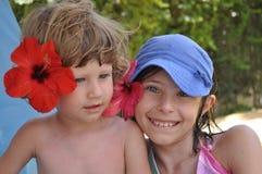 Hermanos el vacaciones Imagen de archivo libre de regalías