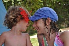 Hermanos el vacaciones Brother y hermana en Túnez Imagenes de archivo