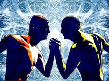 Hermanos en brazos ilustración del vector