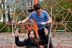 Hermanos en el patio Foto de archivo libre de regalías