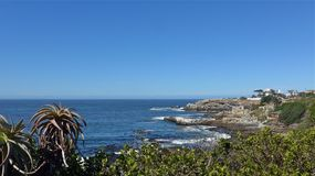 Hermanus, South Africa. walk the Cliff Path to Grotto Beach and enjoy the view. Hermanus, South Africa. walk the Cliff Path to Grotto Beach and enjoy the Royalty Free Stock Images