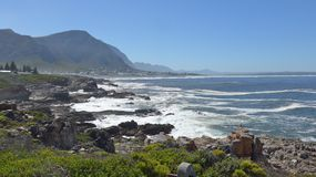 Hermanus, South Africa. Walk the Cliff Path to Grotto Beach and enjoy the view. Hermanus, South Africa. Walk the Cliff Path to Grotto Beach and enjoy the Stock Image