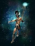 Hermes ο αγγελιοφόρος των Θεών τη νύχτα, τρισδιάστατο CG ελεύθερη απεικόνιση δικαιώματος