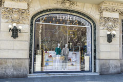 Hermes armazena, Barcelona Imagem de Stock