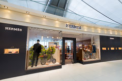 Hermes boutigue at Bangkok airport Stock Photos