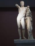 Hermes con el bebé Dionysus - Olympia antiguo Imagen de archivo libre de regalías