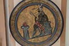 Hermes Decorative-plaat stock foto