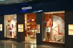 Hermes fashion Stock Photography