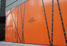 Hermes fashion store in China Royalty Free Stock Photos