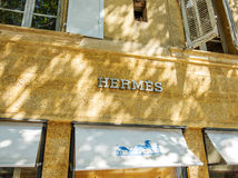 HERMES fashion store in Provence Royalty Free Stock Photography