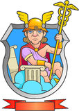 Hermes holds a scepter. In his hand Royalty Free Stock Photography