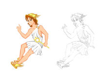 Hermes. This Illustration is Messenger of Greek god Royalty Free Stock Photography