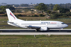 Hermes 737 landing Royalty Free Stock Photography