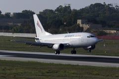 Hermes 737 landning Royaltyfri Bild