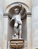 Hermes o Mercury, detalle del rumano National Bank, Bucarest, Foto de archivo