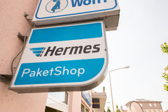 Hermes Paketshop Stock Photo