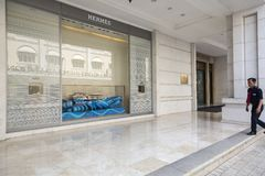 Hermes store in downtown Ho Chi Minh city in Vietnam Royalty Free Stock Photos