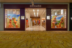 Hermes-winkel in luchthaven Stock Afbeelding