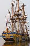 Hermione, berühmte Replik von La Fayette's-Fregatte stockfoto