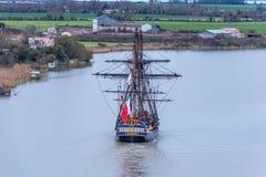 Hermione Boat-Replik in Frankreich lizenzfreie stockfotos