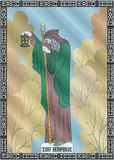 The hermit card. The illustration - card for tarot - the hermit Stock Images