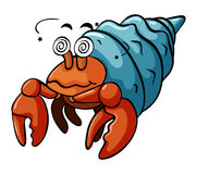 Hermit crab with dizzy face Stock Photo
