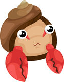 Hermit crab vector. Beautiful hermit crab isolated illustrator vector Stock Image
