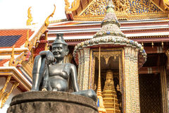 Hermit Doctor of Medicine statue at Wat Phra Kaew, Temple of the Emerald Buddha, Bangkok, Thailand stock image