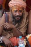 A hermit at Kumbh Mela 2013 Royalty Free Stock Image