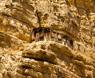 Hermit's cell,Monastery of Saint George in Wadi Qelt Stock Photo