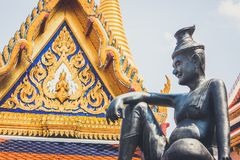 The hermit statue at the Wat Phra Kaew Palace, also known as the Emerald Buddha Temple. Bangkok, Thailand. royalty free stock image