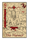The Hermit. The tarot card Stock Image