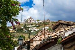 Hermita De San Miguel alt na wierzchołku wzgórze w albaicÃn zdjęcie royalty free
