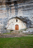 Hermitage. Built in the mountain cave stock images