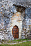 Hermitage. Built in the mountain cave stock image