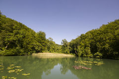 Hermitage in Arlesheim (Basel). Middle Lake the Hermitage in Arlesheim Stock Photo