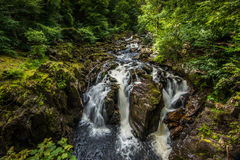The Hermitage, Black Linn Falls in Perthshire Scotland Royalty Free Stock Images