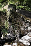 The Hermitage Bridge Perthshire Scotland with moss in artistic c Stock Image