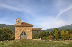 Hermitage of Casillas, Madrid, Spain. The bigger chestnut forest of Madrid capital of Spain is located at the village of Casillas, where we can also find a stock photography