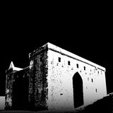Hermitage Castle ruins. Graphic depiction of the ruins of Mermitage Castle in Scotland Stock Photo