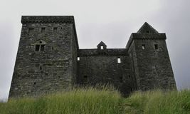 Hermitage Castle a 14th century borders stronghold. Hermitage castle is a 14th century stronghold built by the Douglas family in 1360 for the turbulent times in stock photo