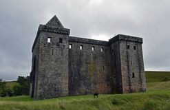Hermitage Castle a 14th century borders stronghold. Hermitage castle is a 14th century stronghold built by the Douglas family in 1360 for the turbulent times in stock images