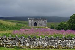 Hermitage Castle a 14th century borders stronghold. Hermitage castle is a 14th century stronghold built by the Douglas family in 1360 for the turbulent times in royalty free stock images