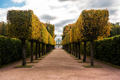 Hermitage in Catherine park in autumn Stock Photography