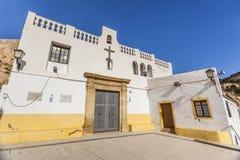 Hermitage church,ermita santa cruz.Typical neighborhood histori. C center, casco antiguo,barrio santa cruz.Alicante, Spain Stock Photo