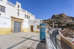 Hermitage church,ermita santa cruz.Typical neighborhood histori. C center, casco antiguo,barrio santa cruz.Alicante, Spain Stock Photography